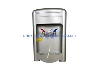 Three Taps Countertop Water Machine Silver Painting Color With External Heating Tank