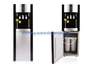 3 Tap Pipeline Water Dispenser Free Standing Built In Filtration Housing Compressor cooling