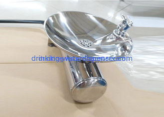 Ambient Water Wall Hung Drinking Fountain Push / Press Bubbler Faucet Great Strength