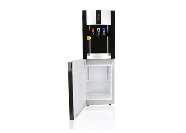 China Classic Design Floor Standing Water Dispenser 3 Tap With 16 Litres Fridge factory