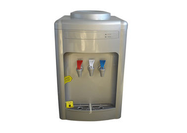 China OEM Silver Color 3 Tap Water Dispenser , Tabletop Bottled Water Dispenser factory