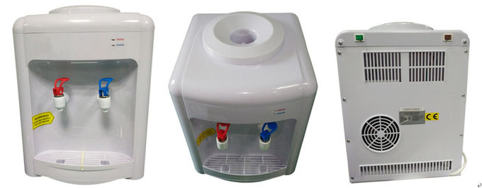 Electrical Cooling Office Hot Cold Water Dispenser White Color ABS Plastic Housing