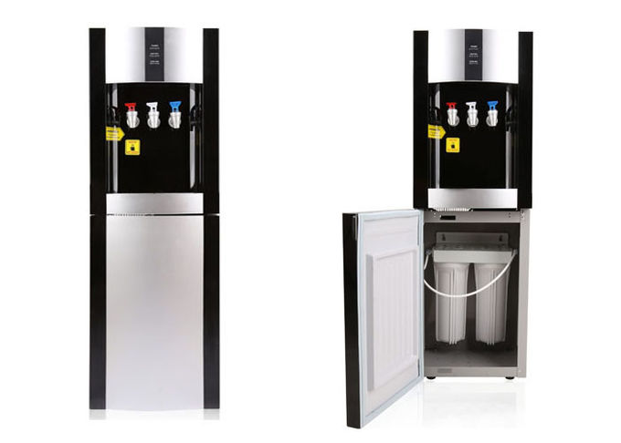 Free Standing 3 Tap Water Dispenser , Pipeline Water Dispenser With Filtration System